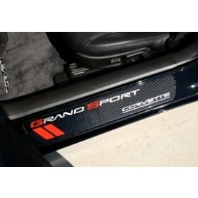 C6 2010-2012 Corvette Carbon Fiber Grand Sport Door Sill Plates