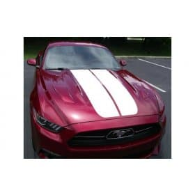 K706 2015 2016 2017 MUSTANG DUAL HOOD DECAL STRIPES with PINSTRIPES