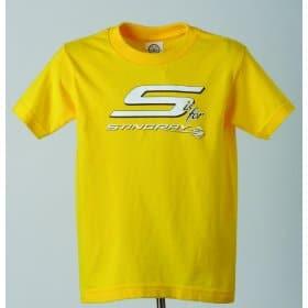 C7 Corvette Stingray Youth T-Shirt Yellow