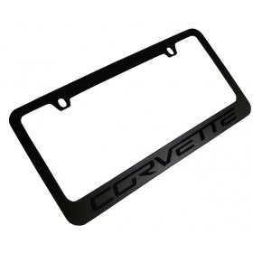 C6 2005-2013 Corvette Black Stealth License Plate Frame