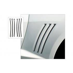 2010-2015 Camaro Sculptured Side Body Vent Decal Accents