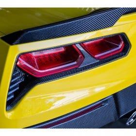 C7 Corvette Trufiber Carbon Fiber Rear Taillight Bezels