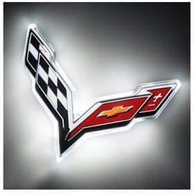2014-2019 C7 Corvette LED Rear Emblem Illuminated