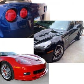 C6 Corvette ZR1 Painted Splitter, Spoiler, Side Skirts Body Kit