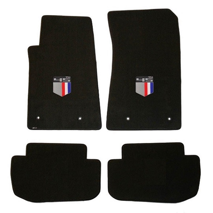 NEW BLACK Floor Mats 2016-2018 Camaro Embroidered Logo and SS in Silver Set of 2