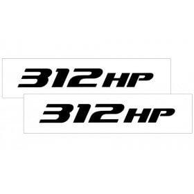 2010-2015 Camaro Hood Rise Decal Set 312 HP