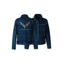 C7 Corvette Stingray Ladies Rhinestone Denim Jacket